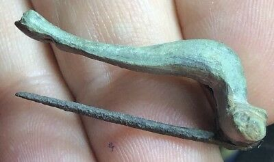 *COLLECTABLE* Ancient Imperial Roman Fibula Knee Type Brooch. Authentic Artefact