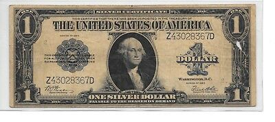 1923 $1 Silver Certificate Horse Blanket Note,Blue Seal,circulated VF,Nice!