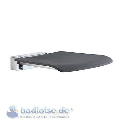 smedbo Living wand-dusch-klapp-sitz anthracite MONTAGE MURAL PLIABLE 150KG fk414