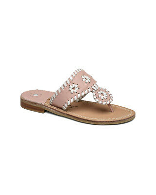 Jack Rogers Girls' Miss Palm Beach Leather Sandal