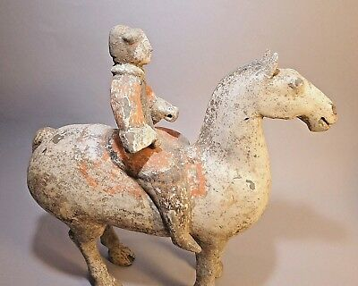Han Dynasty Chinese Tomb Terracotta pottery Horse and Cavalryman Rider Authentic