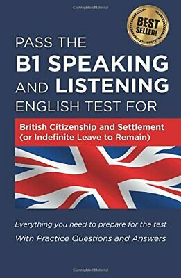 Pass the B1 Speaking and Listening English Test by How2Become New Paperback Book