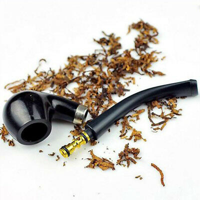 Wooden Cigar Cigarette Black Smoking Pipe New Vintage Pipes Durable Tobacco