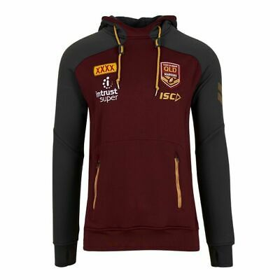 QLD Maroons Origin 2018 ISC Players Squad Hoody Mens, Ladies & Kids Sizes!