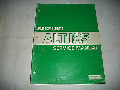1984 Suzuki Alt185 Atv Official Factory Oem Shop Service Manual  More Listed
