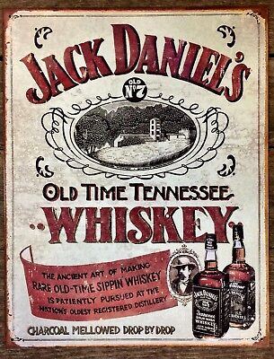 JACK DANIELS Whiskey Vintage Picture Poster Metal Tin Ad Sign Bar Wall Decor
