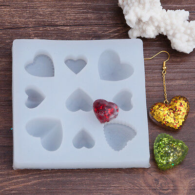"HEART RESIN MOLD, Silicone Mold to make heart shaped pendants, 3-5/8"" tol0693"