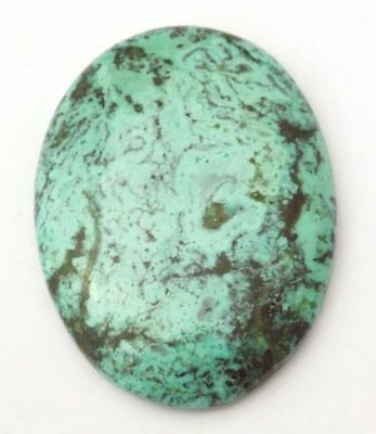 Boulder Turquoise Smooth Handmade Polished Cabochon Oval 38x29x5.5 mm 49.60 Cara