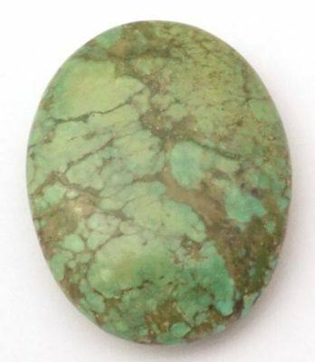 Boulder Turquoise Smooth Handmade Polished Cabochon Oval 32x26x8 mm 39.25 Ct