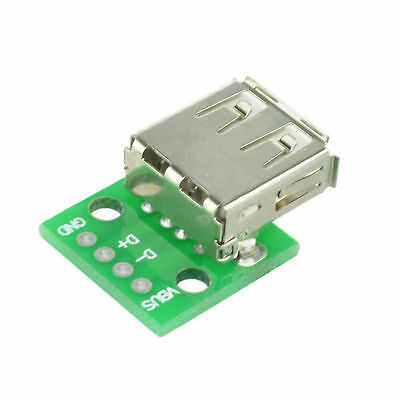 10PCS Type A Female USB To DIP 2.54MM PCB Board Adapter Converter ATF