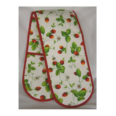Roy Kirkham Double Oven Glove Alpine Strawberry Insulated Traditional Washable