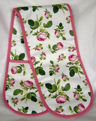Roy Kirkham Double Oven Glove Redoute Rose Design Cotton Insulated Washable New