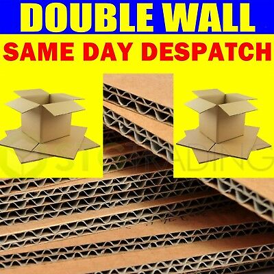 20 x Large Strong Double Wall Box Removal Moving Packing Postal Cardboard Boxes