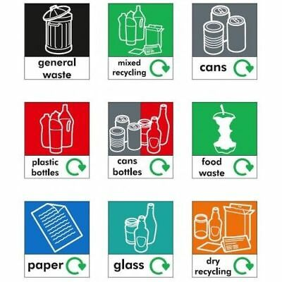 Small Recycling Sticker for Home / School / Office Bins - 85 x 100 mm