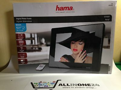 Hama 12.1 Zoll Basic Slim digitaler Bilderrahmen LED SD USB
