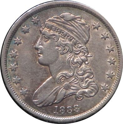 1838 Silver Capped Bust Quarter 25C Toned