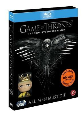 Game of Thrones The Complete Fourth Season Blu Ray + Mini Doll
