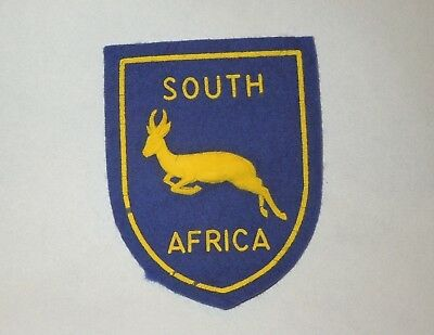 Vintage South Africa Antelope Art Felt Patch- Sculptural Ink Press.