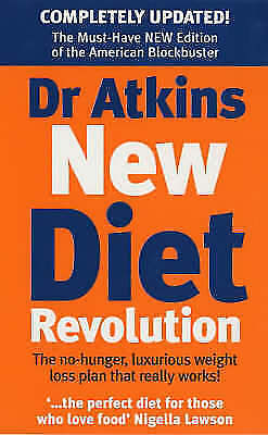 Dr Atkins New Diet Revolution, Atkins, Robert C, Very Good Book