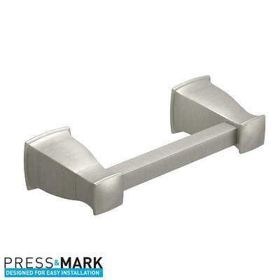 MOEN Hensley Pivoting Double Post Toilet Paper Holder with Press and Mark