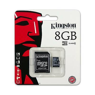 Kingston 8GB Micro SDHC Class 4 Memory Card with Adapter