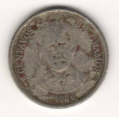 DOMINICAN REPUBLIC, 1976, 25-CENTAVOS, ONE-YEAR COIN (b)