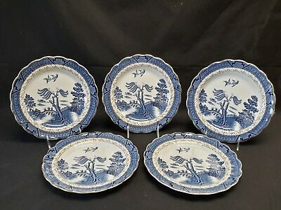 Booths Real Old Willow A8025 Set of 5 Dinner Plates