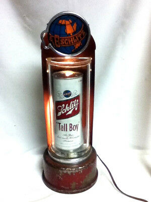Schlitz beer sign vintage 1940's custom made tall boy can bar light lighted JC9