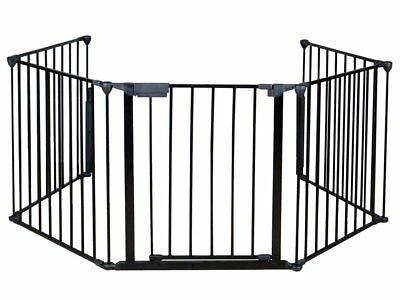 Costzon New Fireplace Fence Baby Safety Fence Hearth Gate BBQ Metal Fire Gate