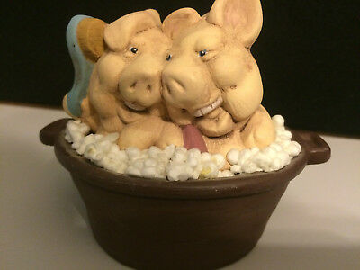 Pigs in Bubble Bath Figurine