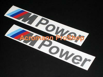 2x 6inch 15.2cm M Power decal sticker BMW M3 E92 E90 E46 M5 E60 E39 M6 Z4 Z3 F30