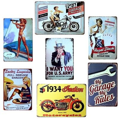 20x30CM Metal Vintage Tin Sign Poster Plaque Bar Pub Club Wall Home Retro Decor