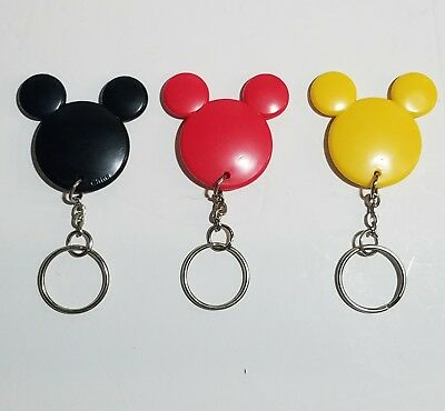 Mickey Mouse Keychain Disney Head Ears Mickey Silhouette Lot of 3