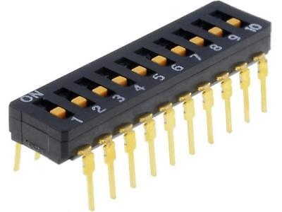 A6D-0100 Switch DIP-SWITCH Poles number10 ON-OFF 0.03A/30VDC 100MΩ OMRON