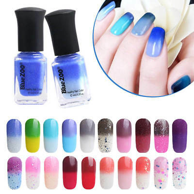 6ml Nail Art Manucure Vernis à Ongles Thermique Couleur Changeable Peel Off