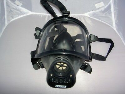 RACAL Safety Crusader Full Face PAPR Respirator Canister Mask NEW