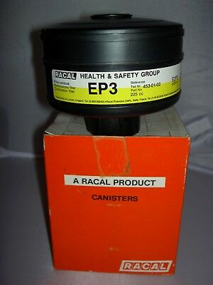 RACAL Respirator Face Mask EP3 453-01-02 New #225cc Combination Filter Canister