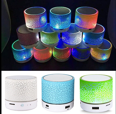 Rechargeable Wireless Bluetooth Speaker Portable Mini Super Bass Luminous Lights