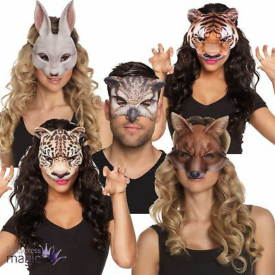 Realistic Animal Jungle Eyemask Half Face Mask Book Week Fancy Dress Accessory