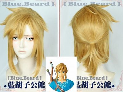 The Legend of Zelda: Breath of the Wild link Cosplay Dark gold Hair Wig Anime