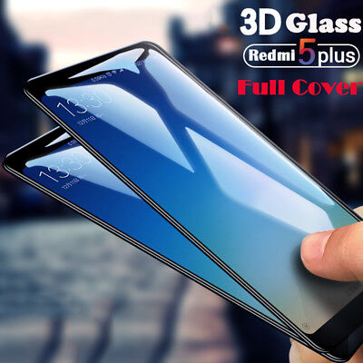 For Xiaomi Redmi 5 Plus 5A 3D Full Cover Tempered Glass Curved Screen Protector