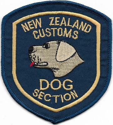 NEUSEELAND Zoll K-9 NEW ZEALAND CUSTOMS Dog Police Patch Polizei Abzeichen DHF a