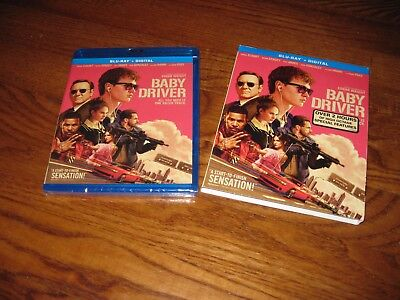 Baby Driver: Ansel Elgort]  Blu-Ray + Digital HD, 2017 ] New; Sealed + Fast Ship