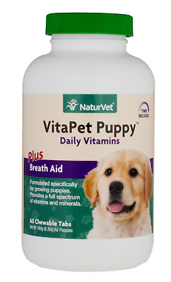 NaturVet Time Release VitaPet Dog and Puppy Multi-Vitamins Supplement 60 count