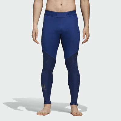 5484833939 adidas Alphaskin Sport Graphic Long Tights men NEW CD7212 blue black