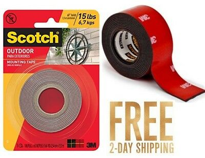 3m Scotch Extremely Strong Double Sided Mounting Tape Indoor Outdoor