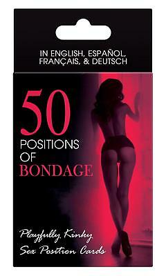 50 POSITIONS OF BONDAGE CARD GAME ADULT FUN NAUGHTY GIFT Sex Aid Cards Kama Sutr