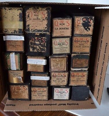 Vintage Player Piano Roll QRS Lot of 20 Waltz #1