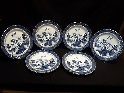 Booths Real Old Willow A8025 Set of 8 Dinner Plates
