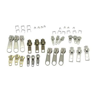 Lot de 44pcs Kit Complet de Réparation de Tirette Fermeture Éclair Zip